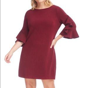 Just Taylor Woman's Plus ruffle detail dress 18W